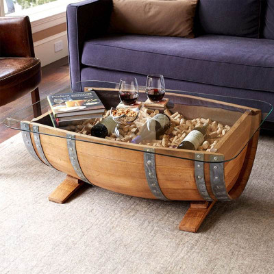 Oak Trunk Coffee Table For Sale