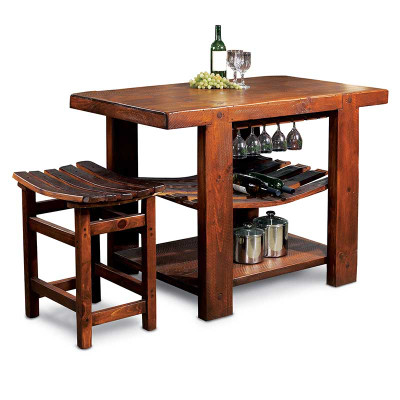 Recycled Barrel Stave Tasting Table Amp Stools Set 16987