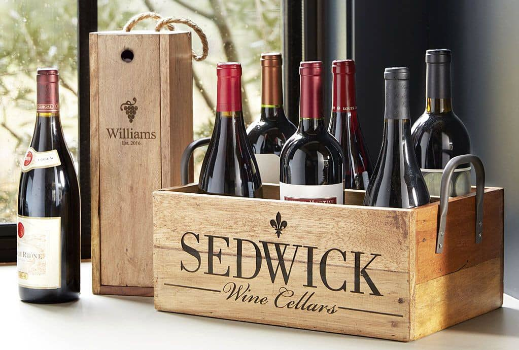 Personalized wine gifts iwa wine accessories pictured personalized gift box 19522 and personalized wine carrier 24408 negle Choice Image