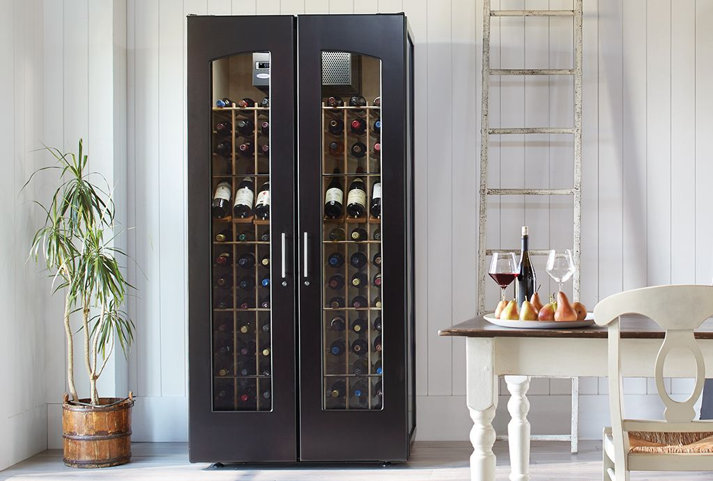 Refrigerated wine cabinet storing red wines in ideal storage conditions