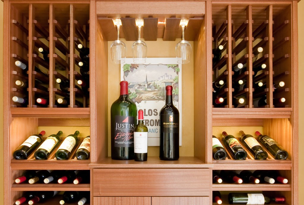 Select Series modular wine racks are made from premium Sapele Mahogany and incorporate wine cellar storage and display cabinetry in a  floating  wall mount ... & Select Series Wine Racks | IWA Wine Accessories