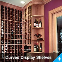 Curved Display Shelves