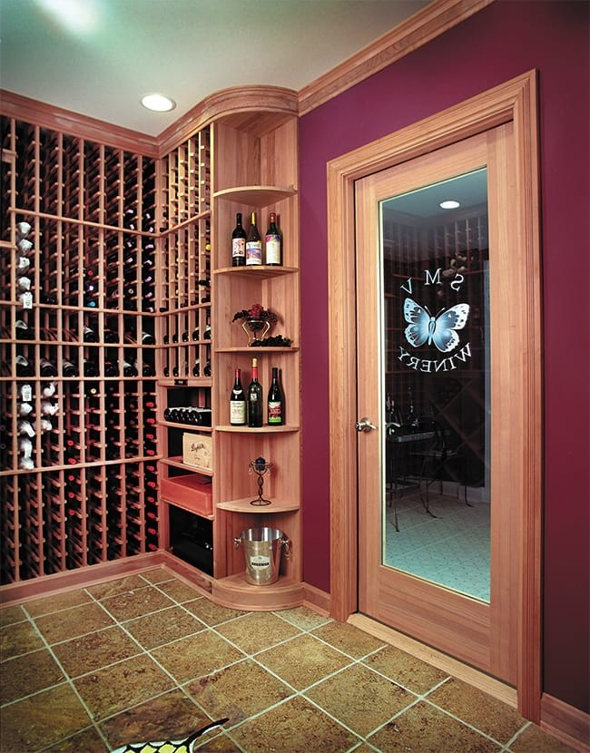 Custom Wine Cellar - Tasting Tables