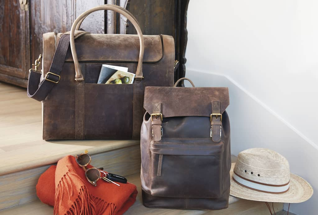 Leather Wine Luggage