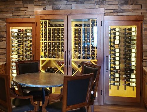 Glass Wine Cabinet Collection Showcase in Littleton, CO
