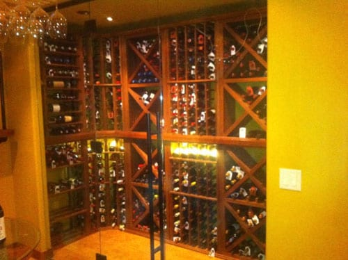 Elegant Wine Cellar with LED Lighting