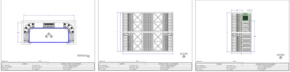 Westminster Colorado Wine Cellar Design Drawing Custom Racking