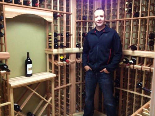 Chris our Happy Wine Cellar Owner New Jersey