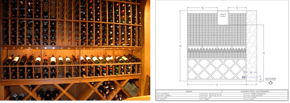 Wine Cellar Midlothian Texas Made From Prime Mahogany