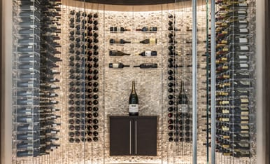 Sensational Metal Wine Racks Modern Custom Designed Cellars Iwa Interior Design Ideas Tzicisoteloinfo