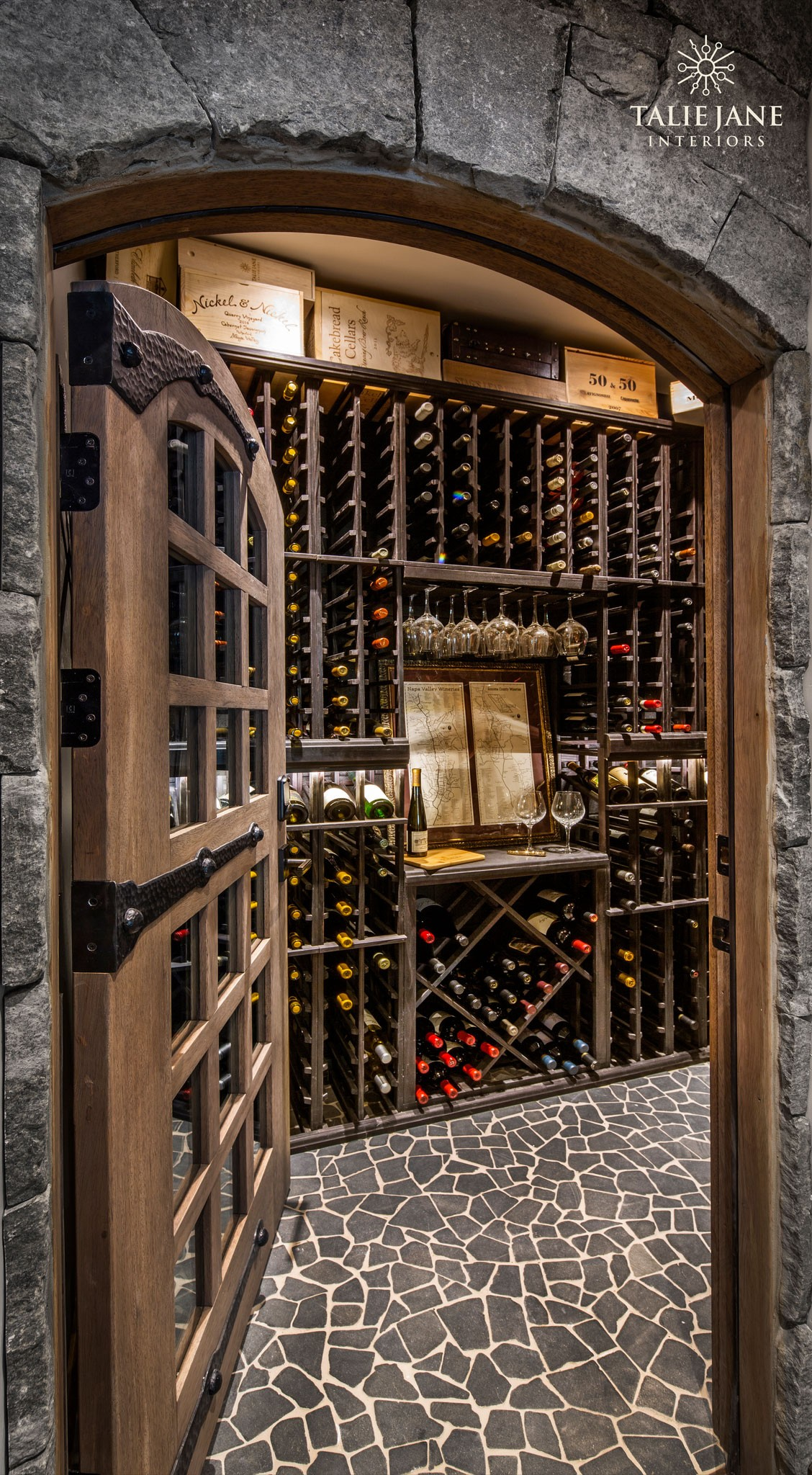 Meticulously Crafted Traditional Wine Cellar