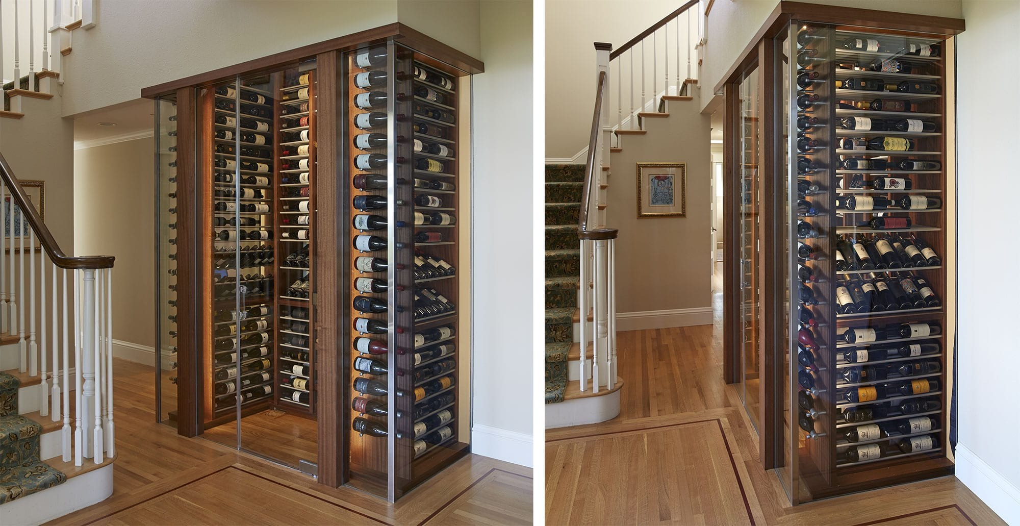 Beautiful custom wine cabinet by IWA Design Center
