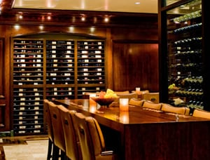 Custom wine cellar projects by geography