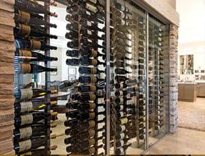 Build a custom glass wine cellar
