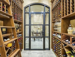 Stunning Cellar with Display Shelves in Plano, Texas