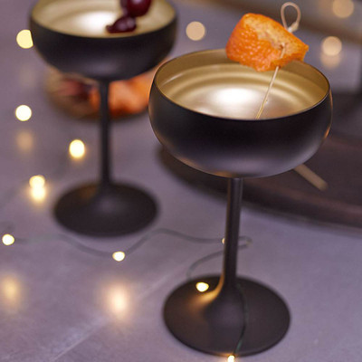 Noir Champagne Coupe Gold Interior Set Of 6 27271 Iwa