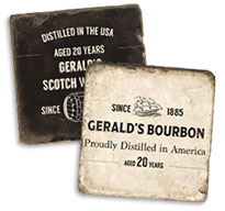Personalized Whisky Coasters