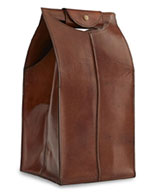 Brown Leather Wine Tote