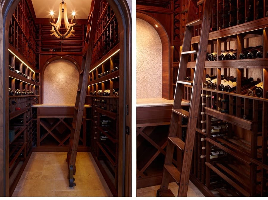 Example Custom Wine Cellar Wood Tiburon San Francisco