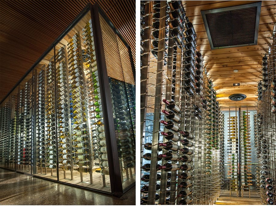 Example Custom Wine Cellar Glass Modern Texas