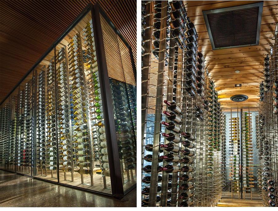 Example Custom Wine Cellar Glass Modern Texas