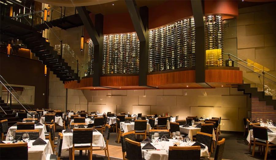 Example Custom Wine Cellar Dramatic Glass Restaurant