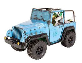 Blue Jeep Cooler