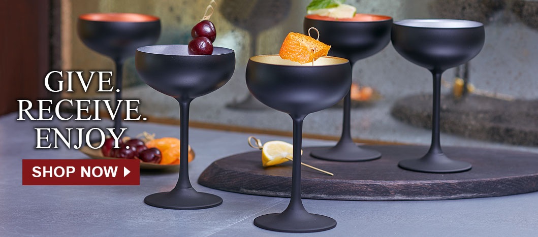 Shop Black Champagne Coupes