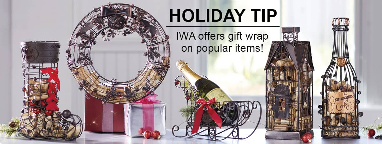 Holiday Tip: IWA offers gift wrap on popular items!