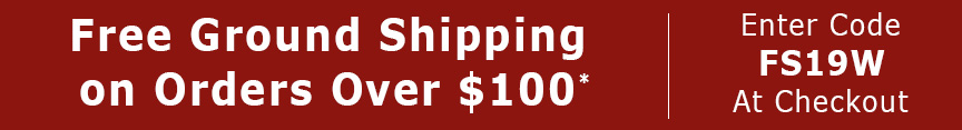 Free ground shipping on orders over $100, use code FS19W. Expires 12/25/19.