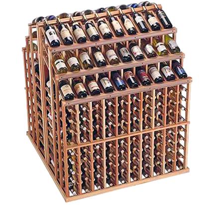 Commercial Wine Rack Triple Tier Island