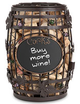 Cork Cage Chalkboard Barrel