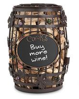 Chalkboard Barrel Cork Cage
