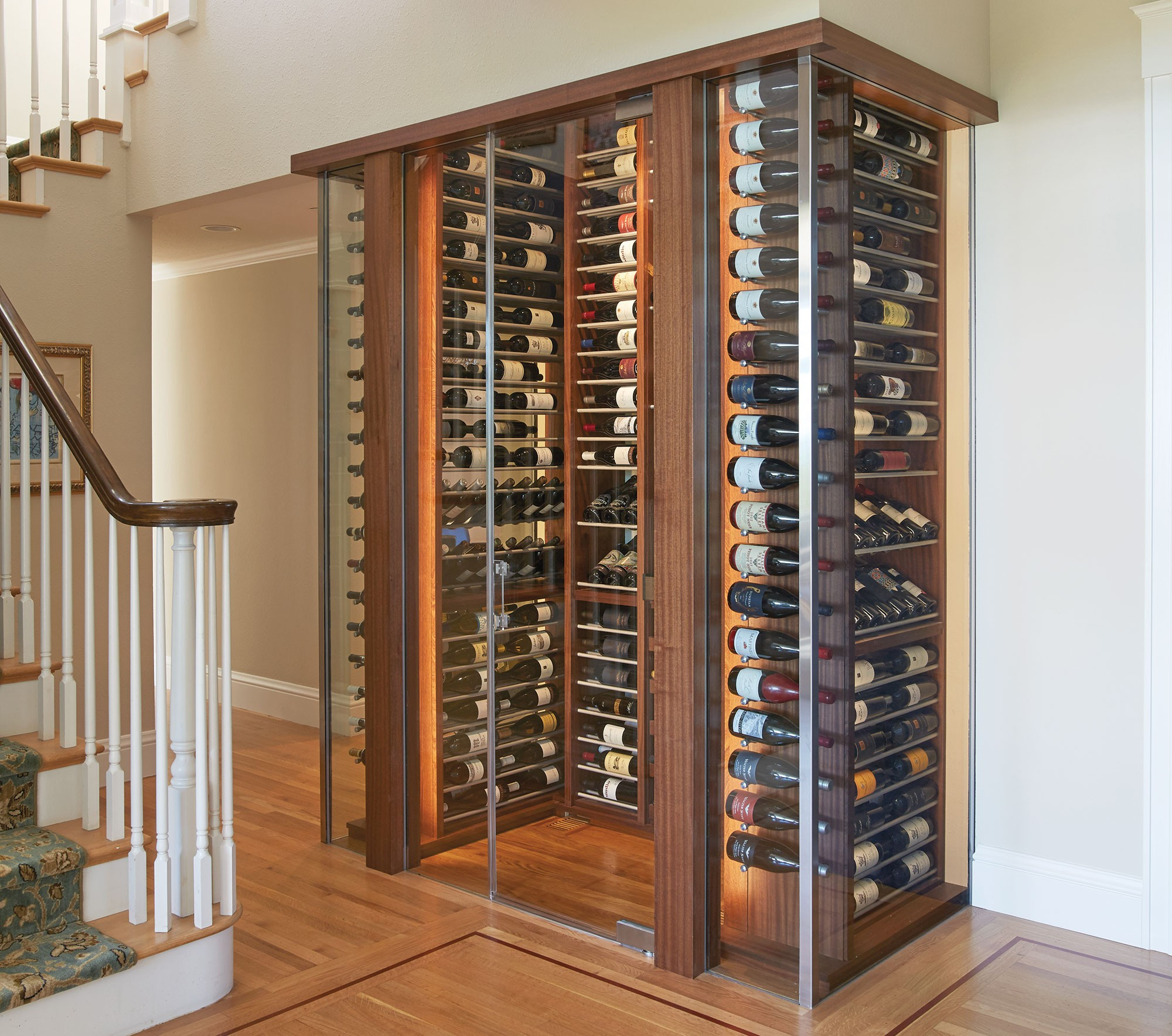 Beautiful glass enclosed wine cabinet