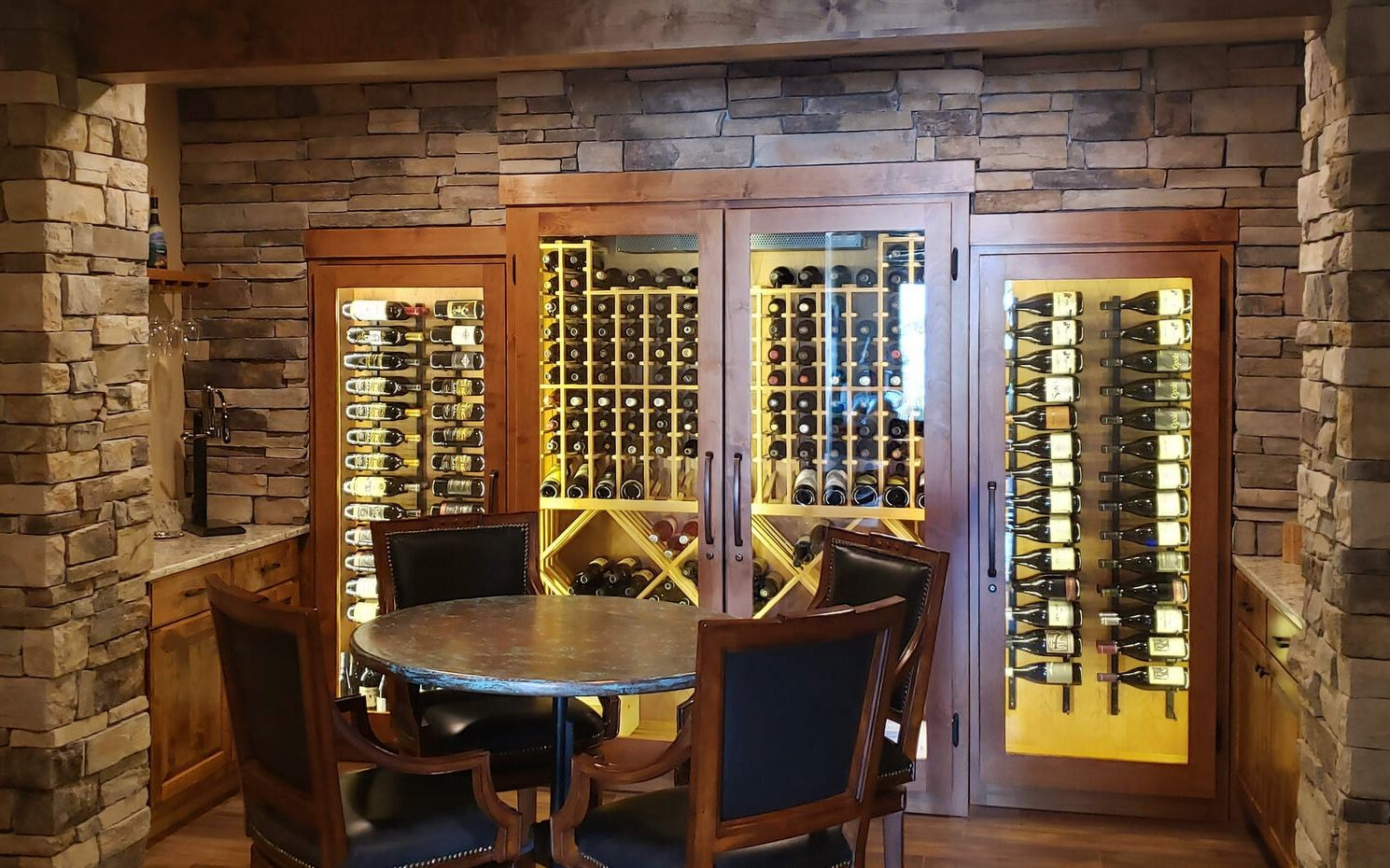 Glass enclosed wine cabinet