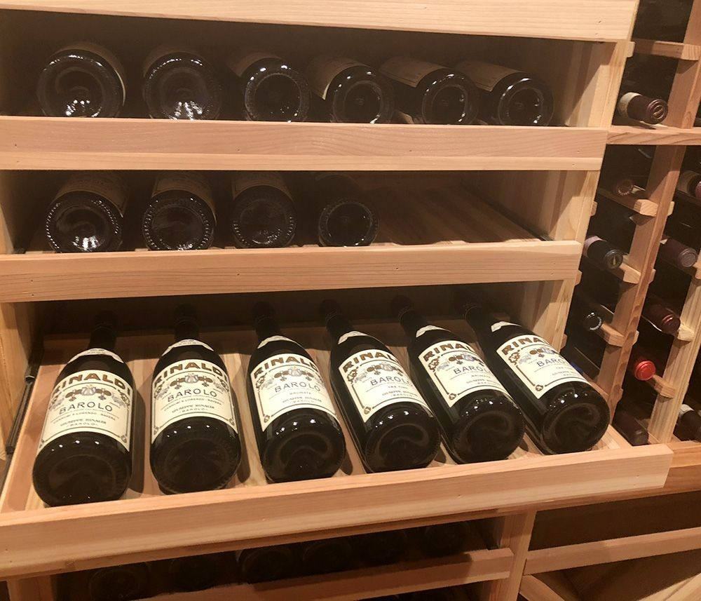 Practical wood wine storage