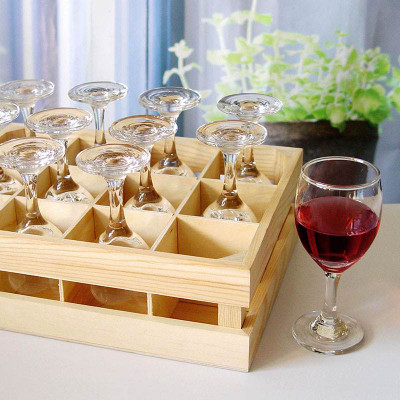 Mini Wine Glasses With Crate Set Of 12 27371 Iwa Wine