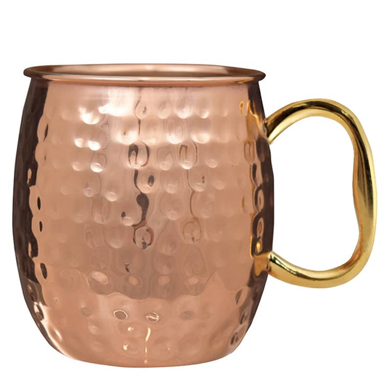 moscow mule hammered solid copper mugs set of 2 iwa wine accessories - Moscow Mule Copper Mug