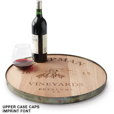 Personalized Recycled Barrel Lazy Susan 18 Inch 16583 Iwa Wine