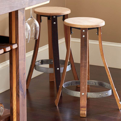 Recycled Barrel Stave Pub Stool Plain 17437 Iwa Wine