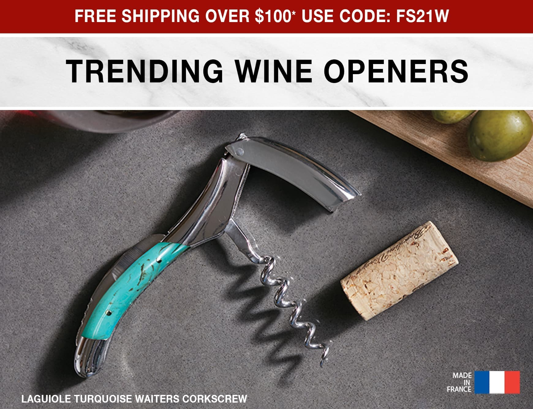 Trending Wine Openers - Free Shipping Over $100 Use Code: FS21W