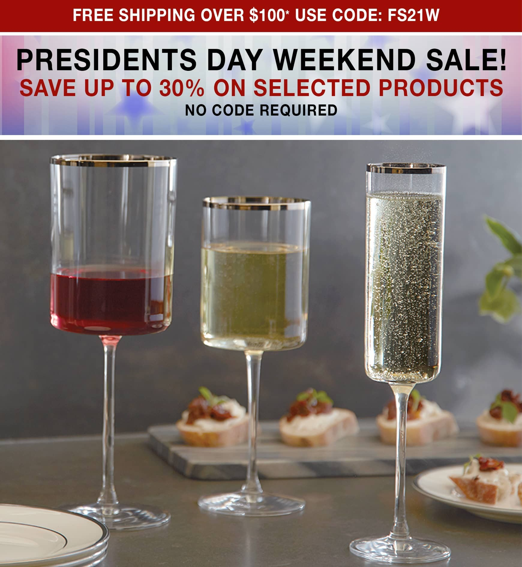 Presidents Day Weekend Sale! Save Up to 40% on Selected Products No Code Required - Free Shipping Over $100 use code FS21W