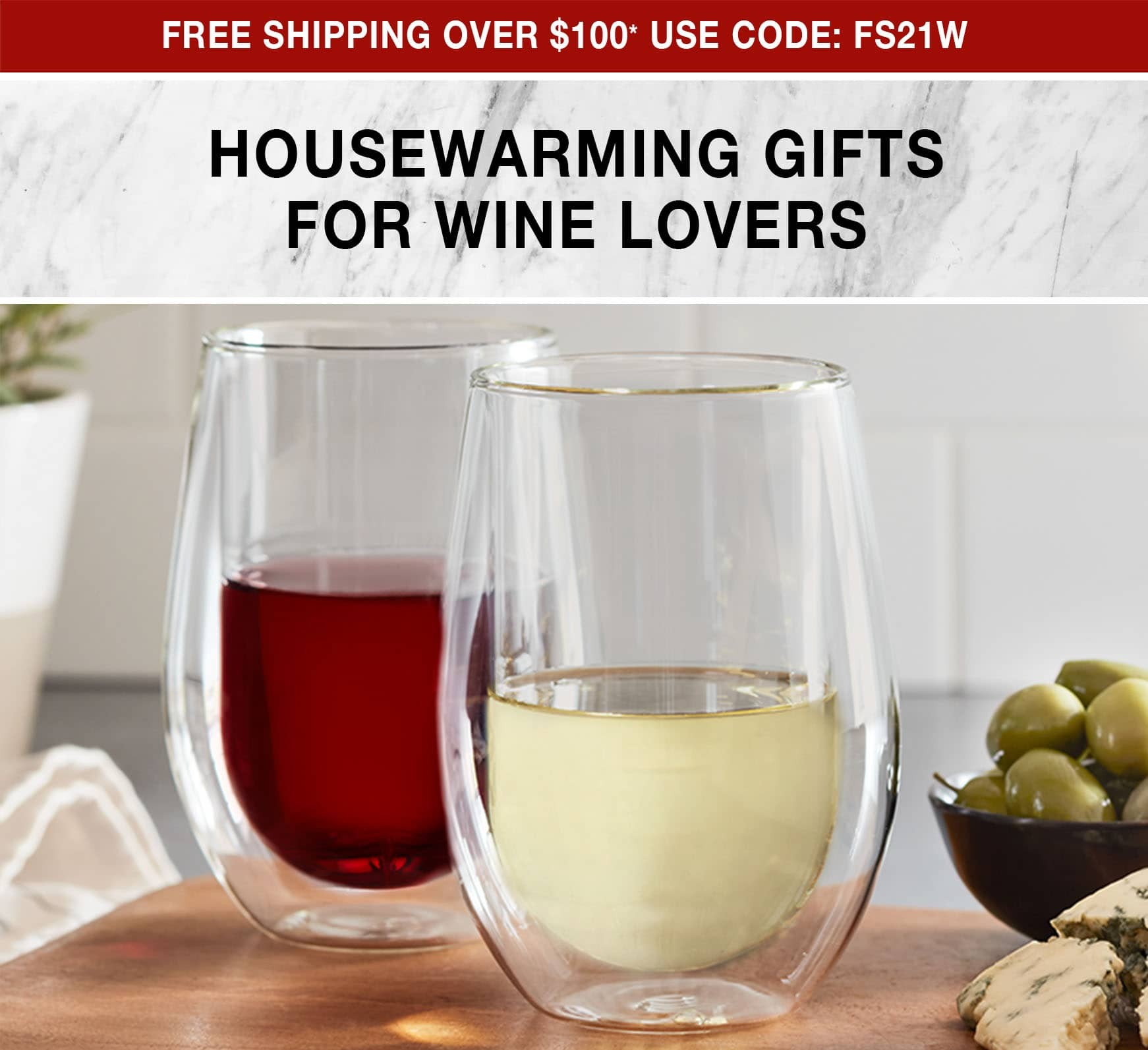 Housewarming Gifts for Wine Lovers - Free Shipping over $100 use code FS21W
