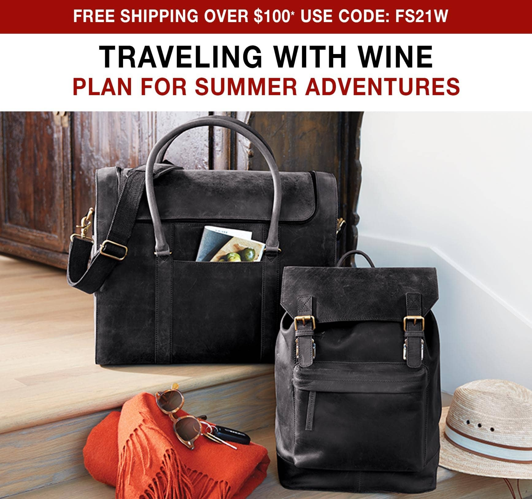 Traveling With Wine: Plan for Summer Adventures - Free ground shipping on orders over $100 use code FS21W