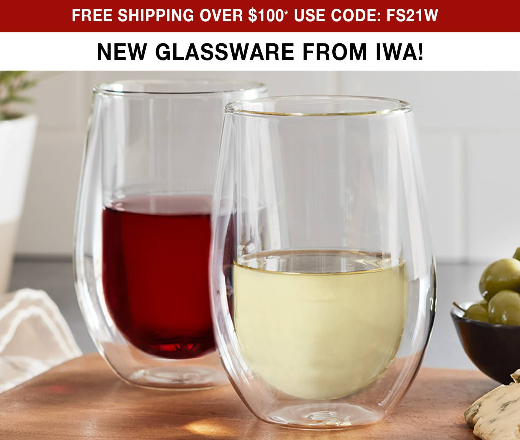 New Glassware From IWA - Free Shipping Over $100* Use Code FS21W