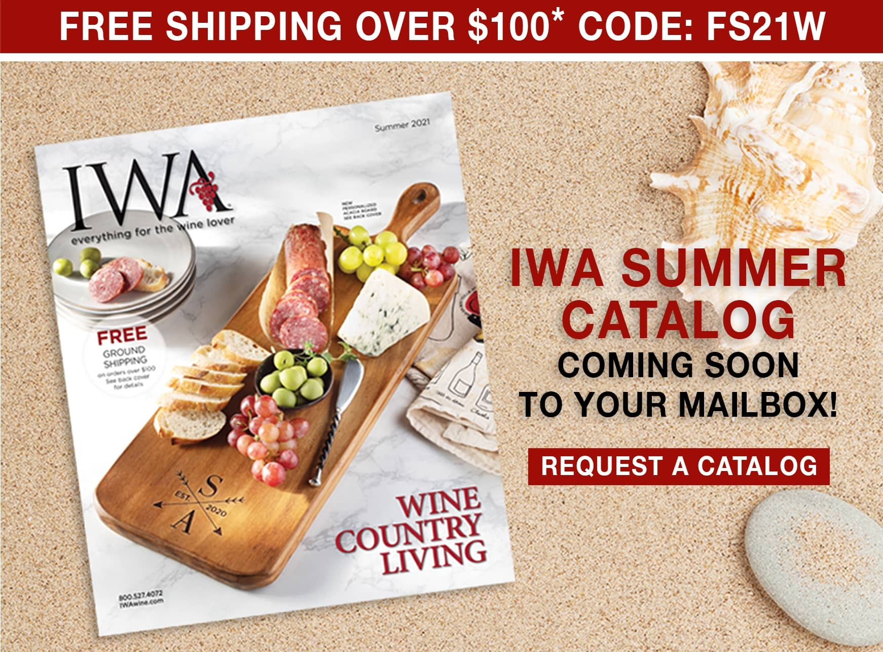 IWA Summer Catalog - Request a Catalog - Free Shipping Over $100 use code FS21W
