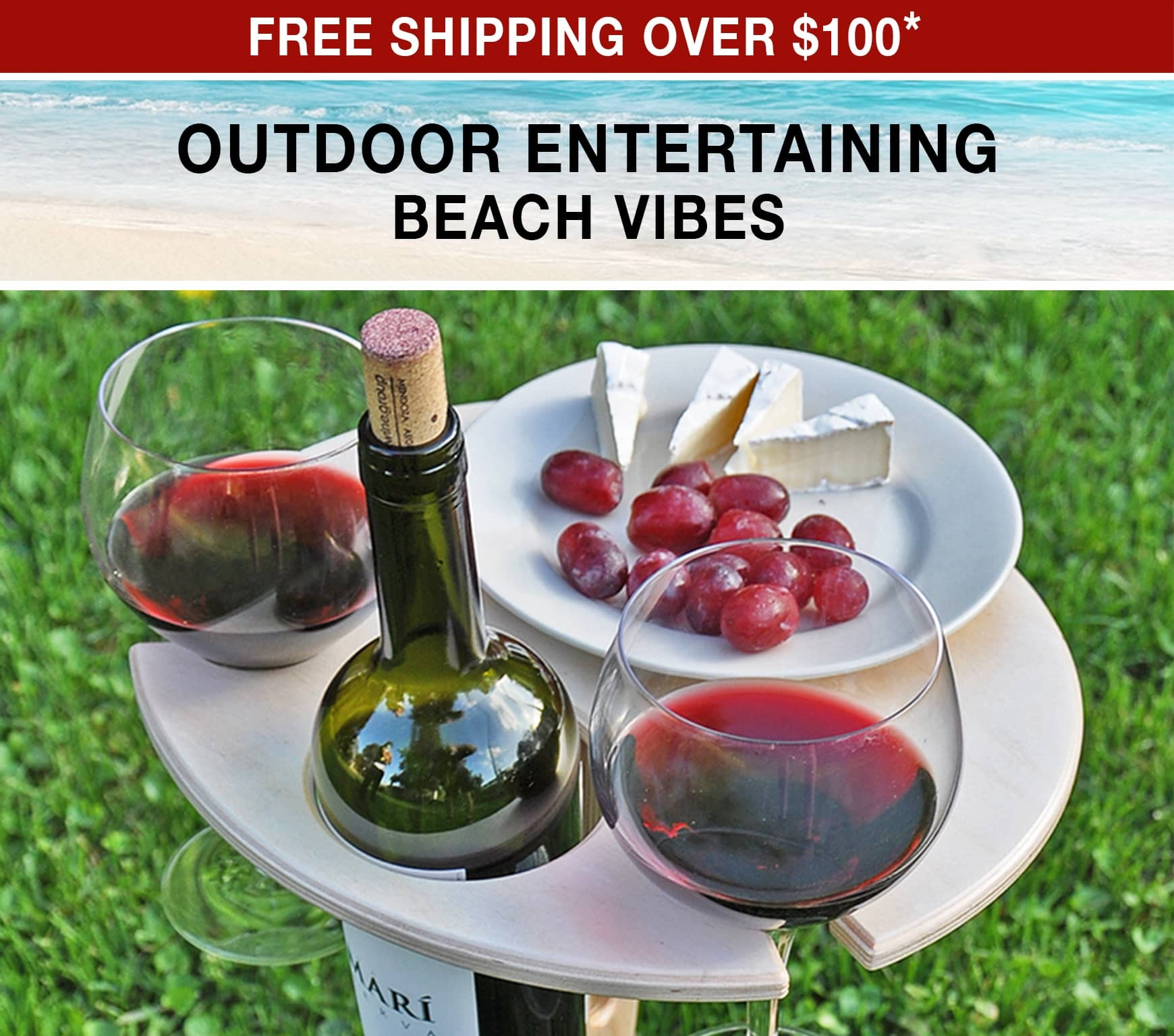 Outdoor Entertaining Beach Vibes - Free Shipping Over $100 use code FS21W