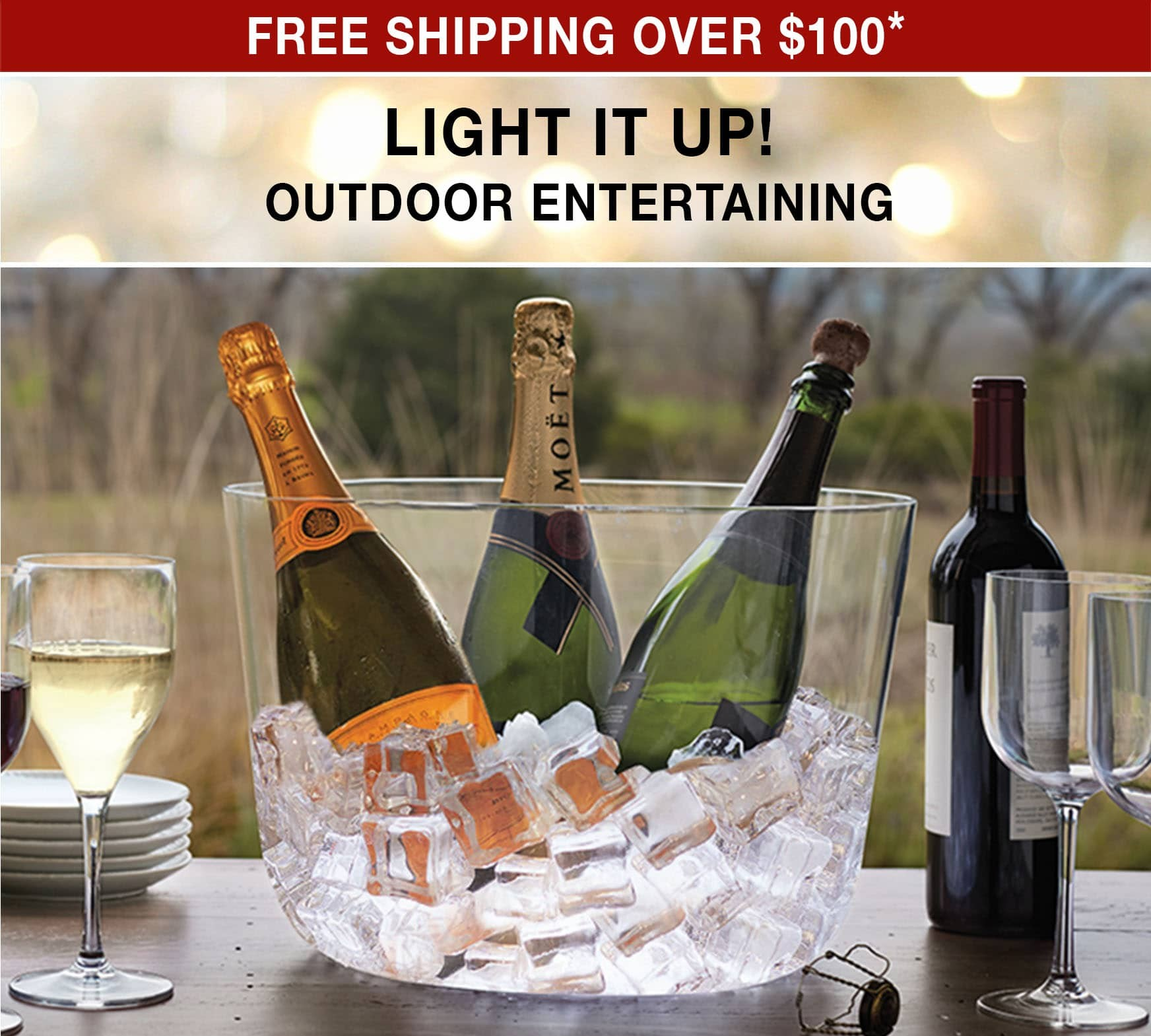 Light It Up Outdoor Entertaining! Free Shipping over $100 use code FS21W