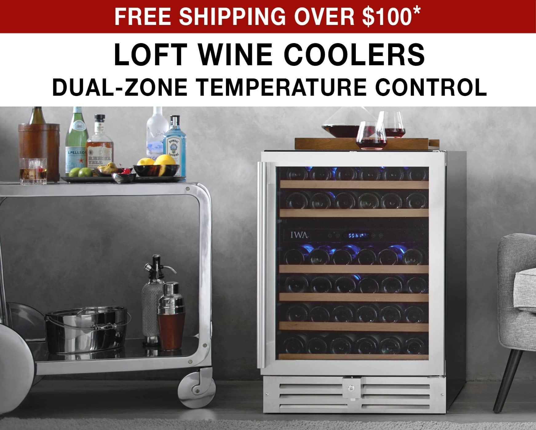 Loft Wine Coolers - Free Shipping Over $100* Use Code FS21WEB
