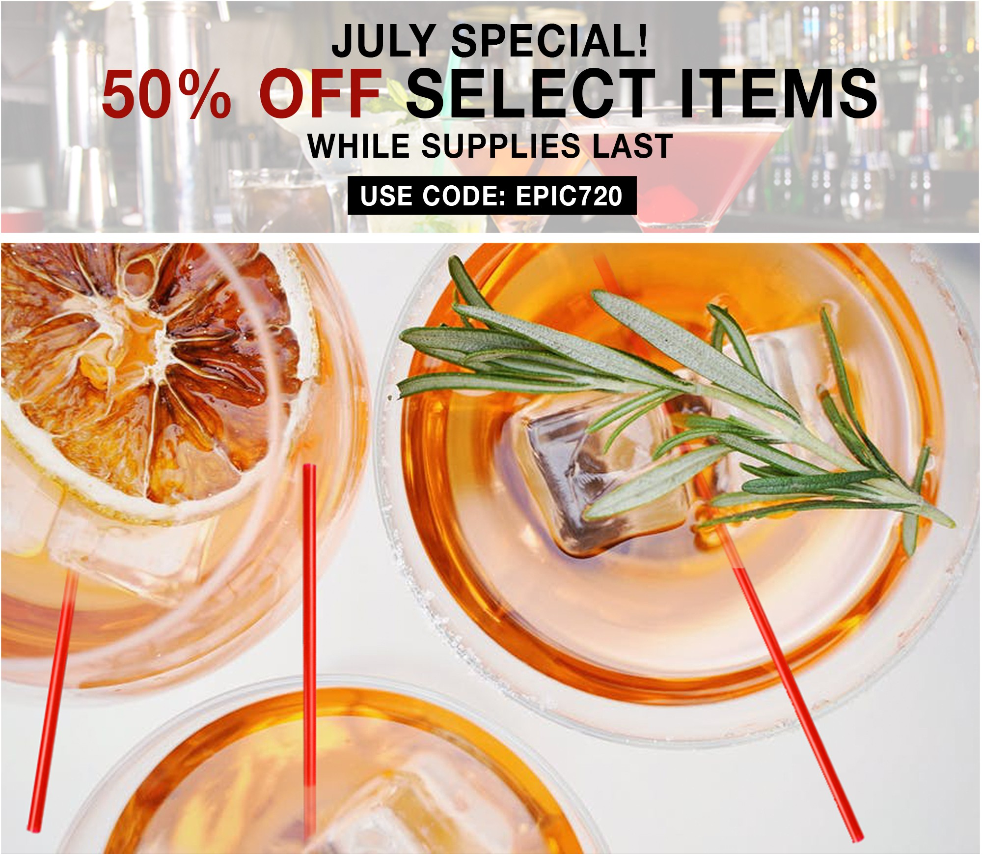 June Special - 50% Off Select Items - While Supplies Last! Use Code: EPIC720